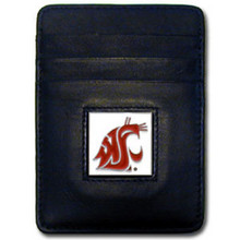Washington State Cougars Leather Money Clip Card Holder Wallet NCCA College Sports CCH71