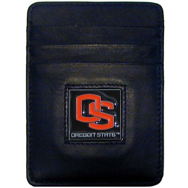 Oregon State Beavers Leather Money Clip Card Holder Wallet NCCA College Sports CCH72