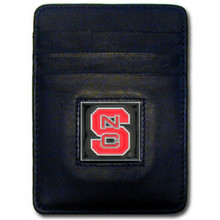 North Carolina State Wolfpack Leather Money Clip Card Holder Wallet NCCA College Sports CCH79