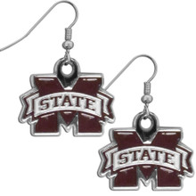 Mississippi State Bulldogs Chrome Dangle Earrings NCCA College Sports CDE45N