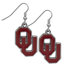 Oklahoma Sooners Chrome Dangle Earrings NCCA College Sports CDE48N