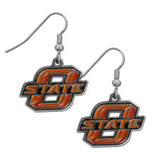 Oklahoma State Cowboys Chrome Dangle Earrings NCCA College Sports CDE58N