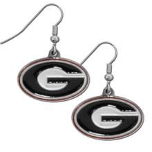 Georgia Bulldogs Chrome Dangle Earrings NCCA College Sports CDE5N