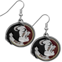 Florida State Seminoles Chrome Dangle Earrings NCCA College Sports CDE7N