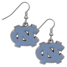North Carolina Tar Heels Chrome Dangle Earrings NCCA College Sports CDE9N