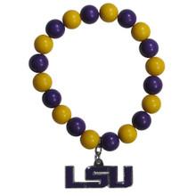 LSU Tigers Fan Bead Bracelet NCAA College CFBB43