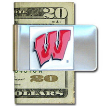 Wisconsin Badgers Logo Money Clip NCCA College Sports CMCL51