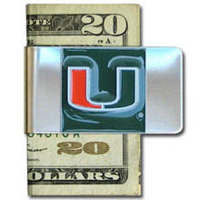 Miami Hurricanes Logo Money Clip NCCA College Sports CMCL6