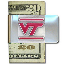 Virginia Tech Hokies Logo Money Clip NCCA College Sports CMCL61