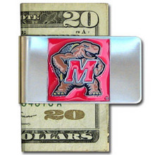 Maryland Terrapins Logo Money Clip NCCA College Sports CMCL64