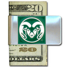 Colorado State Rams Logo Money Clip NCCA College Sports CMCL76