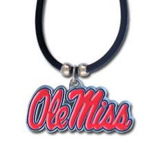 Mississippi Rebels Cord Pendant Necklace NCCA College Sports CPR59