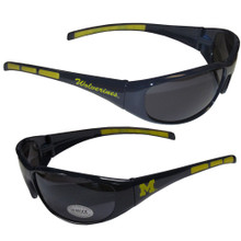 Michigan Wolverines Wrap Sunglasses NCCA College Sports 2CSG36