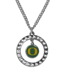 Oregon Ducks Rhinestone Hoop Necklace NCCA College Sports CRN50