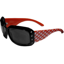 Wisconsin Badgers Rhinestone Designer Sunglasses NCCA College Sports CSG51W