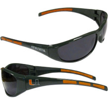 Miami Hurricanes Wrap Sunglasses NCCA College Sports 2CSG6