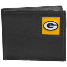 Green Bay Packers Black Bifold Wallet
