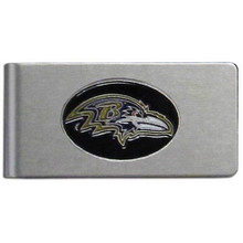 Baltimore Ravens Brushed Money Clip