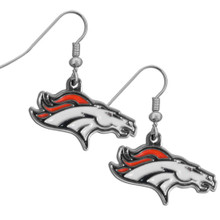 Denver Broncos Chrome Dangle Earrings FDE020N