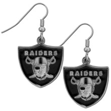 Oakland Raiders Chrome Dangle Earrings FDE125N