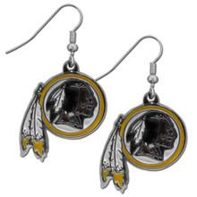 Washington Redskins Chrome Dangle Earrings FDE135N