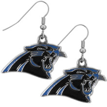 Carolina Panthers Chrome Dangle Earrings FDE170N