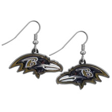 Baltimore Ravens Chrome Dangle Earrings FDE180N