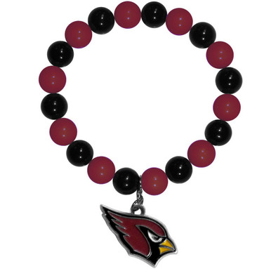 Arizona Cardinals Fan Bead Bracelet NFL Football FFBB035