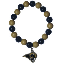 St. Louis Rams Fan Bead Bracelet NFL Football FFBB130
