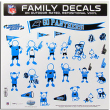 Carolina Panthers Large Family Decal Stickers
