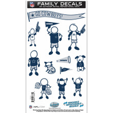 Dallas Cowboys Medium Family Decal Stickers FFMD055