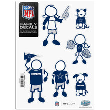 Dallas Cowboys Small Family Decal Stickers FFSD055
