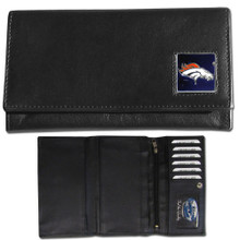 Denver Broncos Black Women's Leather Wallet FFW020