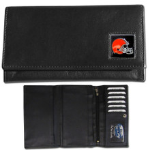 Cleveland Browns Black Women's Leather Wallet FFW025