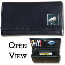 Philadelphia Eagles Black Women's Leather Wallet FFW065