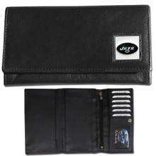 New York Jets Black Women's Leather Wallet FFW100