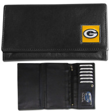 Green Bay Packers Black Women's Leather Wallet FFW115