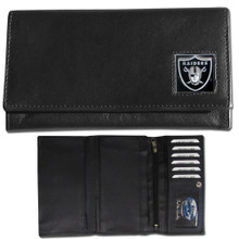 Oakland Raiders Black Women's Leather Wallet FFW125