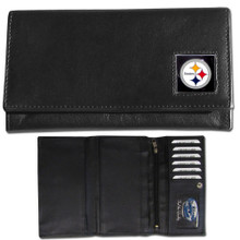 Pittsburgh Steelers Black Women's Leather Wallet FFW160
