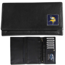 Minnesota Vikings Black Women's Leather Wallet FFW165