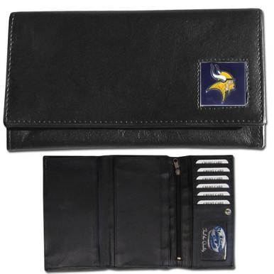 Minnesota Vikings Black Women's Leather Wallet FFW165