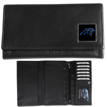 Carolina Panthers Black Women's Leather Wallet FFW170
