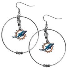 Miami Dolphins Hoop Earrings FHE060