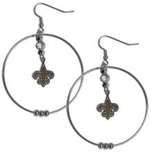 New Orleans Saints Hoop Earrings FHE150