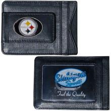 Pittsburgh Steelers Cash & Cardholder Wallet NFL Football FLMC160
