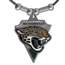 Jacksonville Jaguars Leather Pendant Necklace NFL Football FPL175