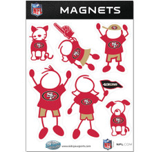 San Francisco 49ers Family Magnets NFL Football FRMF075