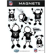 Oakland Raiders Family Magnets NFL Football FRMF125