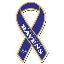 Baltimore Ravens Ribbon Magnet NFL Football FRMR180