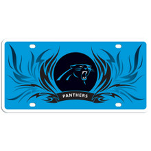 Carolina Panthers Flame License Plate NFL Football FSLPF170